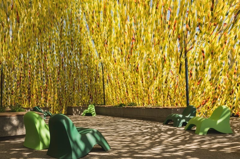 Newsroom | v2com-newswire | Newswire | Architecture | Design | Lifestyle - Press release - Roof Line Garden II at the Musée de la civilisation and Swing Line Garden at the Reford Gardens by Julia Jamrozik and Coryn Kempster - International Garden Festival / Reford Gardens