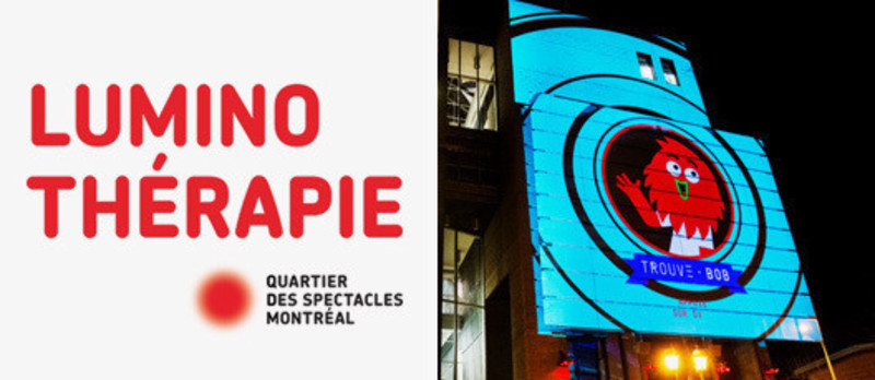 Press kit - Press release - Luminothérapie competition: call for proposals for architectural video projections in Quartier des Spectacles - Bureau du design - Ville de Montréal