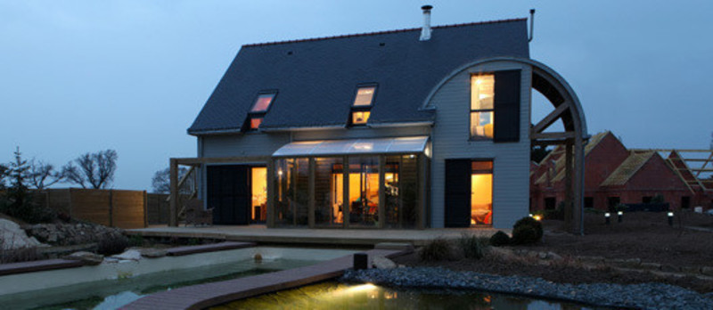 Newsroom - Press release - An organic, bioclimatic house in Brittany - Patrice Bideau
