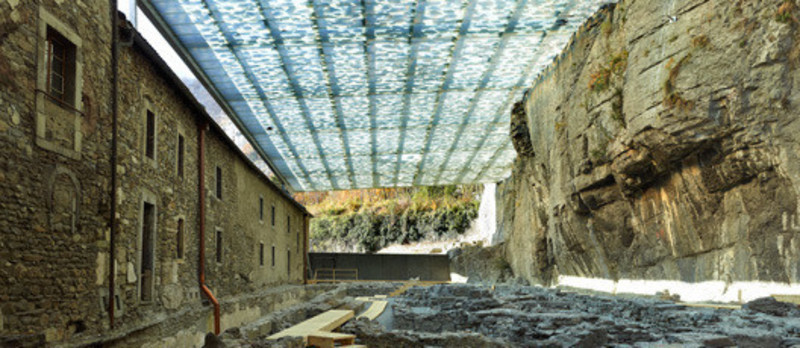 Newsroom | v2com-newswire | Newswire | Architecture | Design | Lifestyle - Press release - Coverage of archaeological ruins of the abbey of St. Maurice - savioz fabrizzi architectes