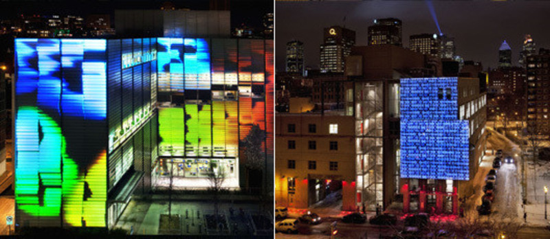 Newsroom - Press release - Two new video-projection works - Quartier des spectacles partnership