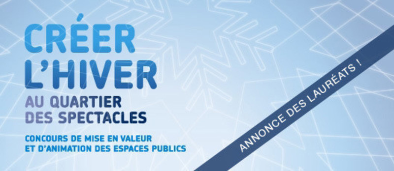 Press kit - Press release - Unveiling of the 2011 laureates of the competition CRÉER L'HIVER - Bureau du design - Ville de Montréal