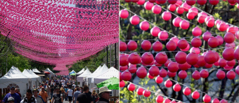 Press kit - Press release - Pink Balls - Claude Cormier Architectes Paysagistes