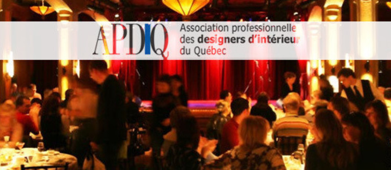 Salle de presse - Communiqué de presse - 1er Gala des prix de l'excellence APDIQ - L'Association professionnelle des designers d'intérieur du Québec (APDIQ)