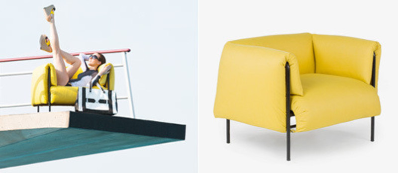 Press kit - Press release - Collection Blow up / Cover Me : Lounge / Ottoman / Loveseat - Céline Godin pour Jardin de Ville