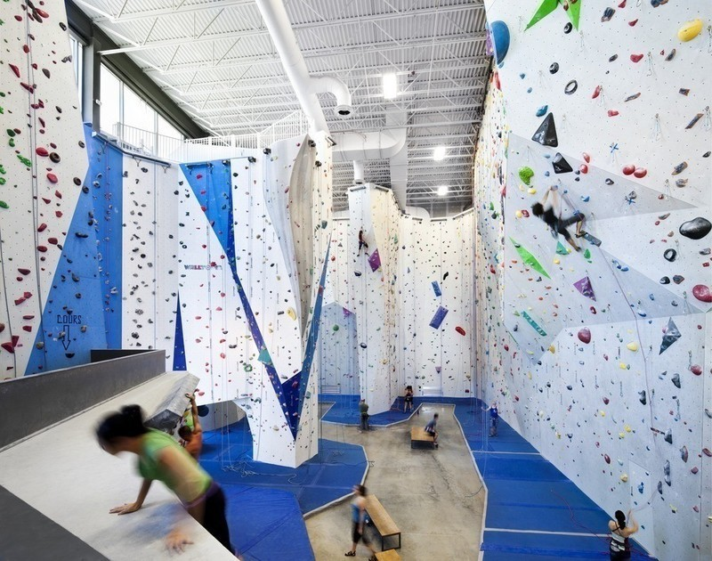 Dossier de presse - Communiqué de presse - Allez-Up – Montreal's First Rock Climbing Gym - Smith Vigeant architectes