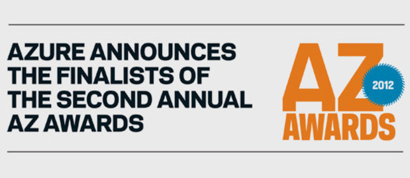 Newsroom - Press release - Azure announces the finalists of the second annual AZ Awards - Azure Magazine