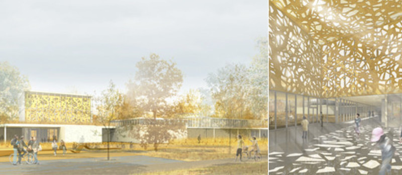 Newsroom | v2com-newswire | Newswire | Architecture | Design | Lifestyle - Press release - Entry for the competition for the Saint-Laurent Library - Chevalier Morales / FABG