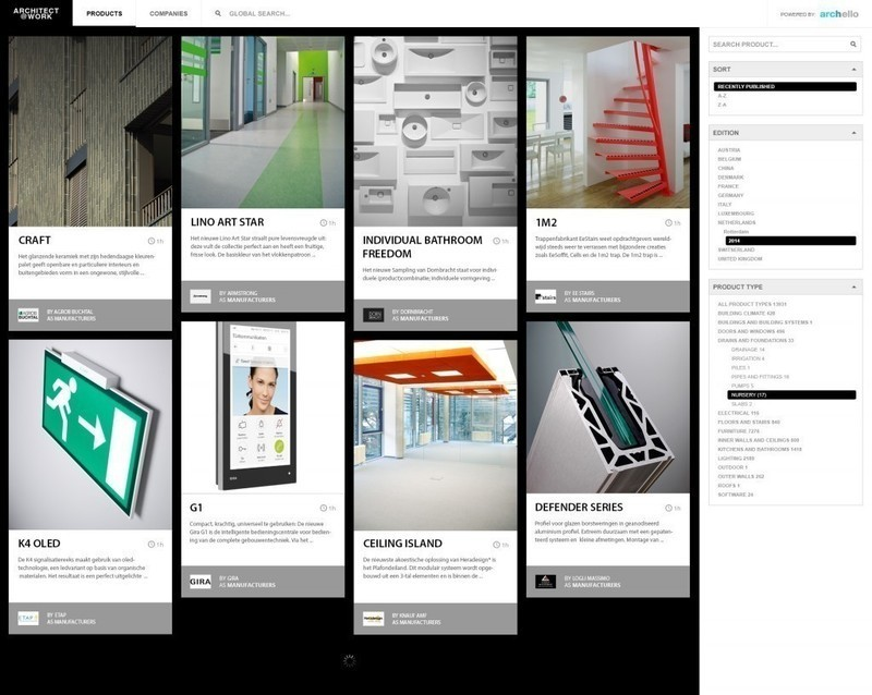Newsroom | v2com-newswire | Newswire | Architecture | Design | Lifestyle - Press release - ARCHITECT@WORK partners with Archello for its online product guide - Archello