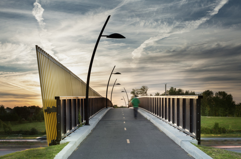 Newsroom | v2com-newswire | Newswire | Architecture | Design | Lifestyle - Press release - Footbridge Candiac, Québec - Lemay