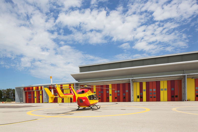 Press kit - Press release - Extension of the helicopter group of civil security - Nimes Garons