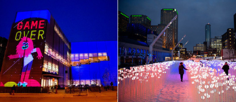 Newsroom | v2com-newswire | Newswire | Architecture | Design | Lifestyle - Press release - Luminothérapie in Quartier des Spectacles (Montréal) : unveiling of the 2013-2014 works - Quartier des spectacles partnership