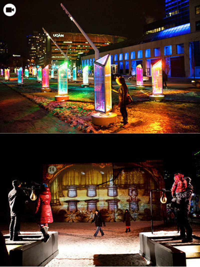 Newsroom - Press release - Luminothérapie: interactive and digital public art illuminate winter in Montreal's Quartier des Spectacles - Bureau du design - Ville de Montréal